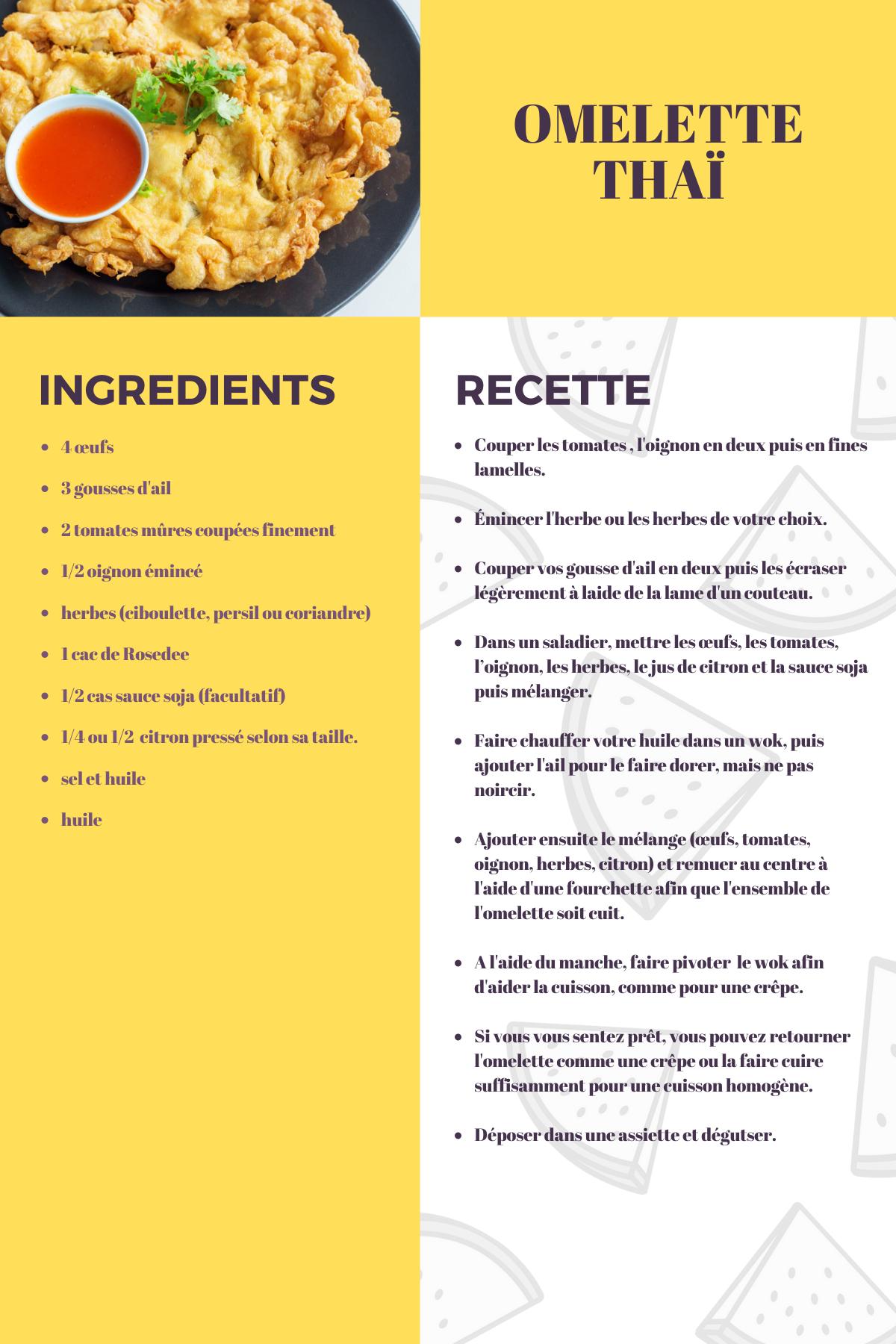recette omelette thaï